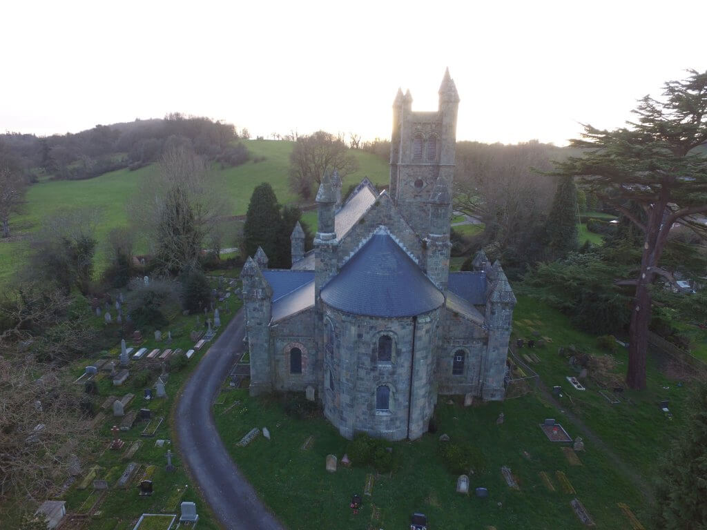 arial view of christ church east end