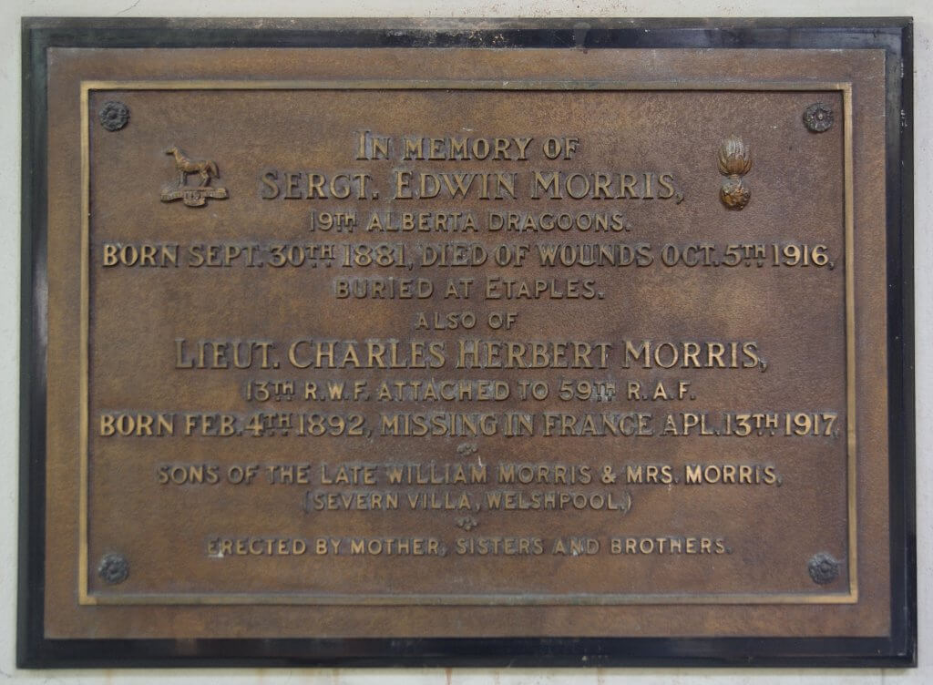 Edwin and Charles Morris plaque