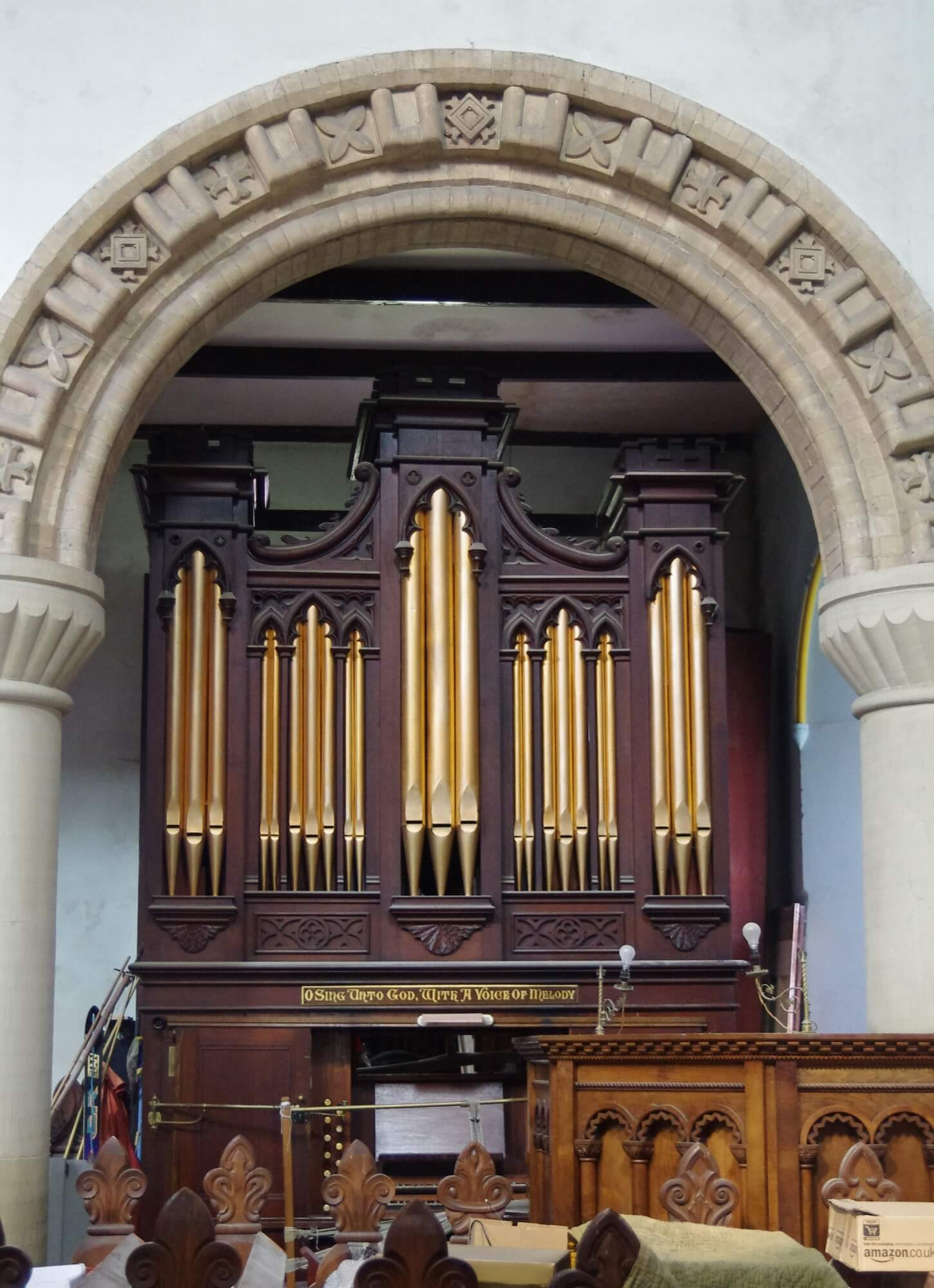pipe organ Christ Church Welshpool